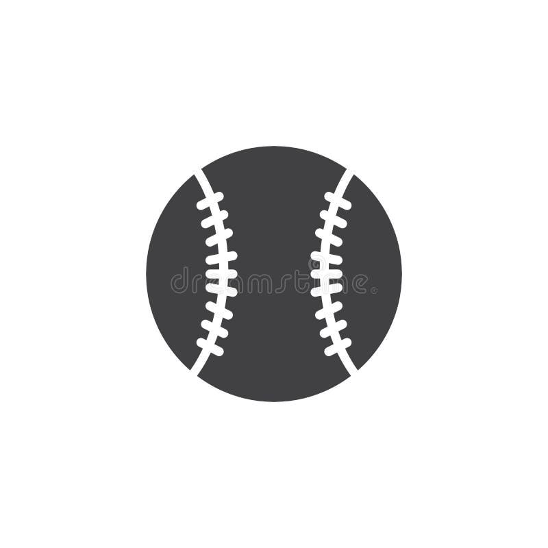 Icono del vector de la bola del béisbol ilustración del vector