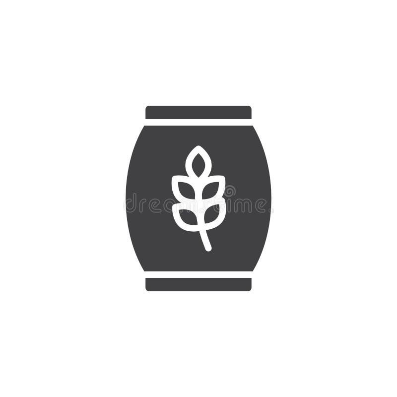 Icono del vector de la bolsa de papel de la harina libre illustration