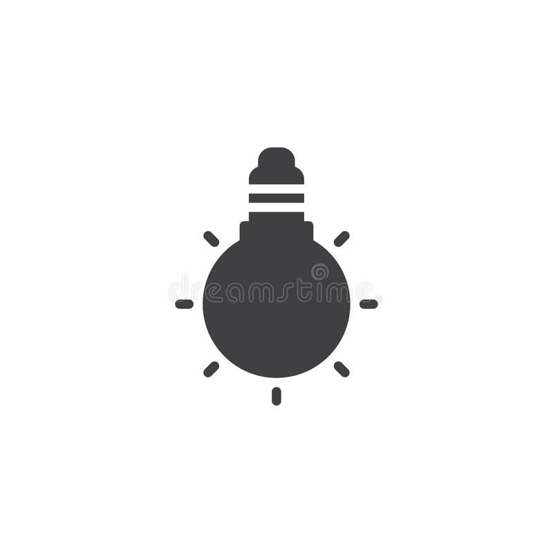 Icono del vector de la bombilla stock de ilustración