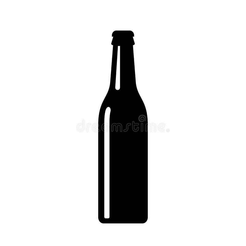 Icono del vector de la botella de cerveza stock de ilustración