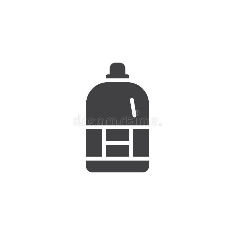 Icono del vector de la botella del suavizador stock de ilustración