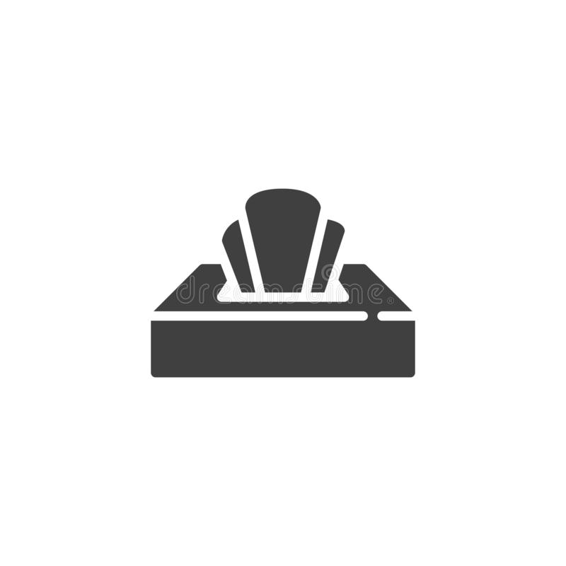 Icono del vector de la caja del tejido ilustración del vector