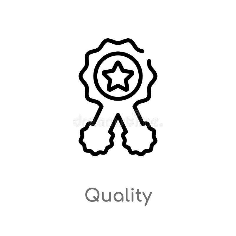 icono del vector de la calidad del esquema l?nea simple negra aislada ejemplo del elemento del concepto del servicio de atenci?n  libre illustration