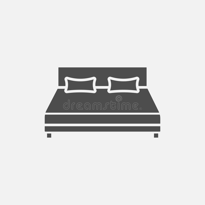 Icono del vector de la cama libre illustration