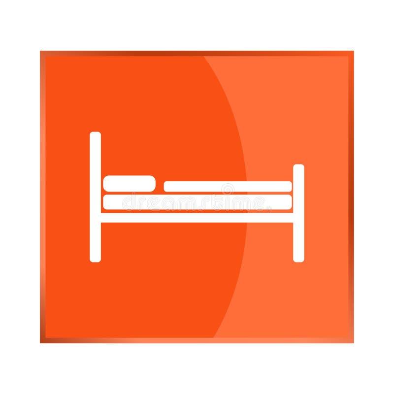 Icono del vector de la cama Habitación de Santo Domingo ilustración del vector