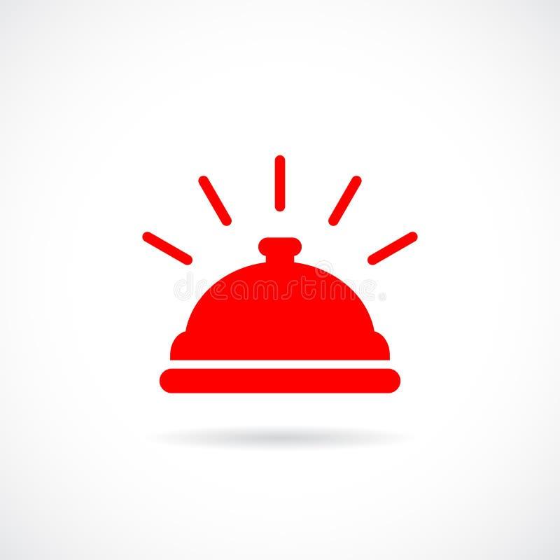 Icono del vector de la campana del hotel ilustración del vector