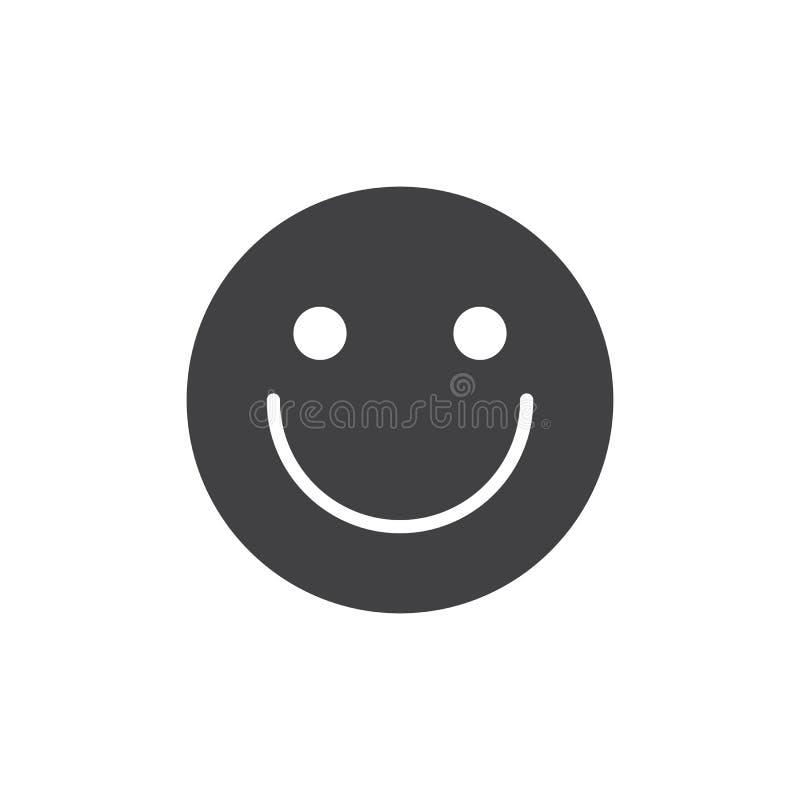 Icono del vector de la cara de la sonrisa stock de ilustración