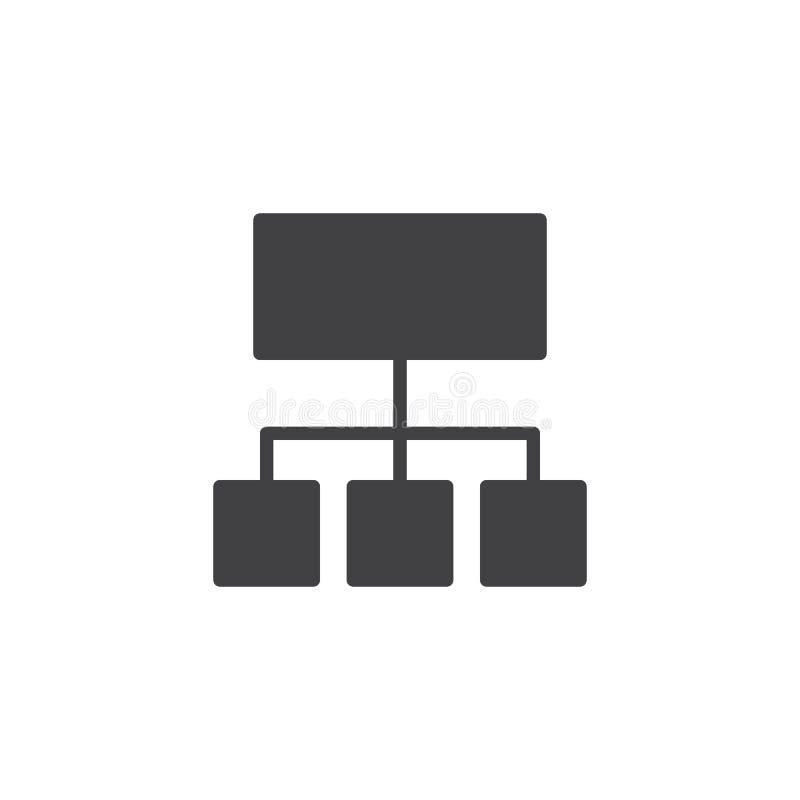Icono del vector de la carta de organización ilustración del vector