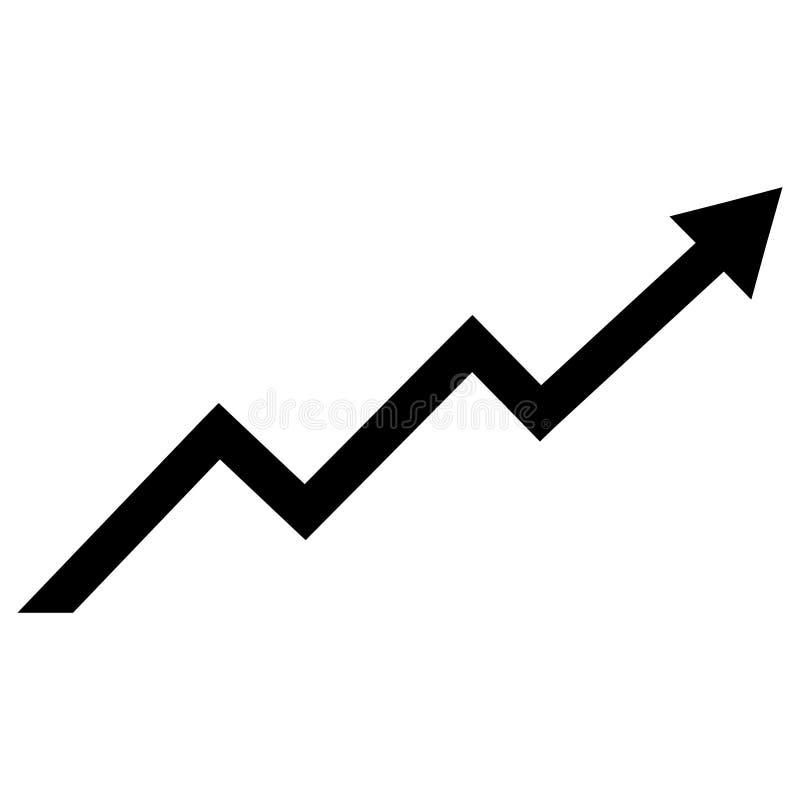 Icono del vector de la carta de la tendencia del crecimiento libre illustration