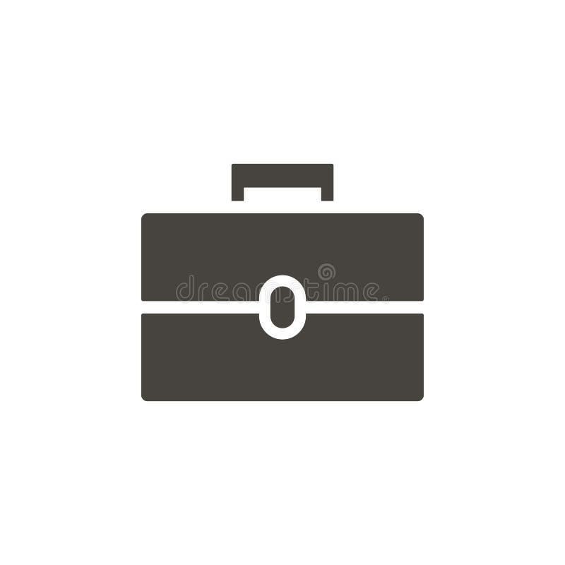Icono del vector de la cartera Icono simple del vector del illustrationPortfolio del elemento Ejemplo material del vector del con libre illustration