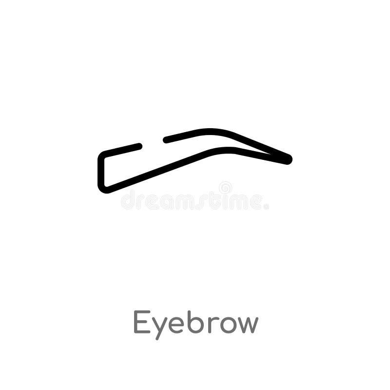icono del vector de la ceja del esquema l?nea simple negra aislada ejemplo del elemento del concepto de la ropa de la mujer Movim stock de ilustración