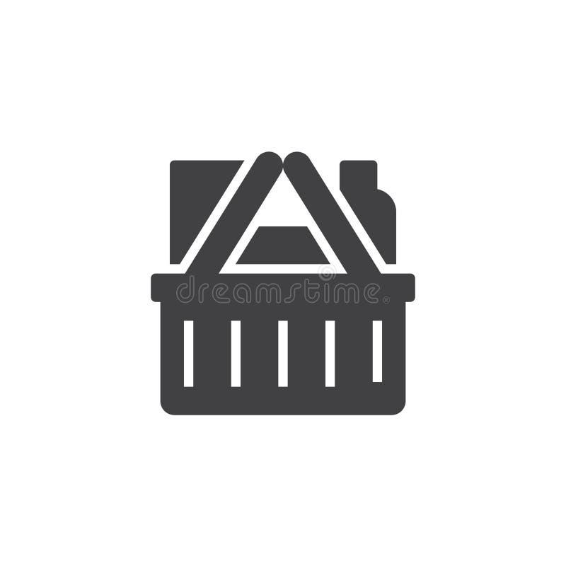 Icono del vector de la cesta de compras libre illustration