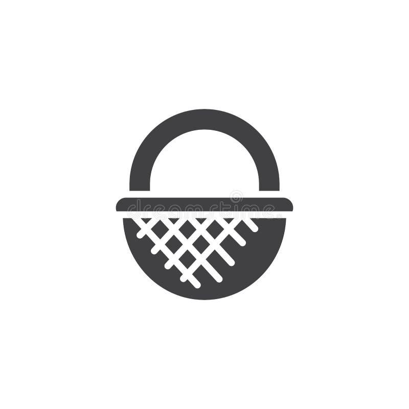 Icono del vector de la cesta de mimbre stock de ilustración