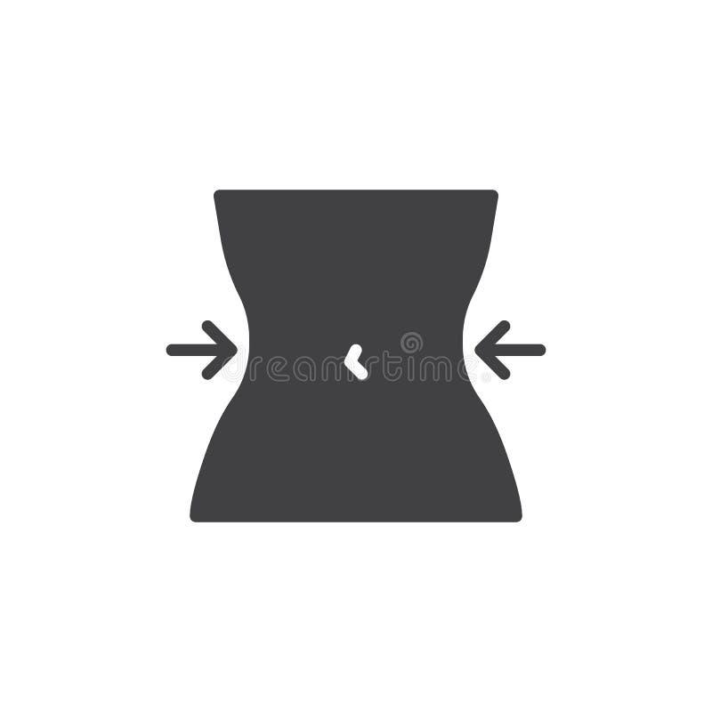 Icono del vector de la cintura de las mujeres ilustración del vector