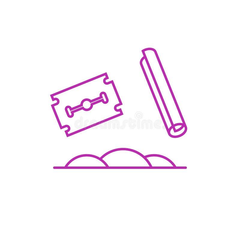 Icono del vector de la cocaína stock de ilustración