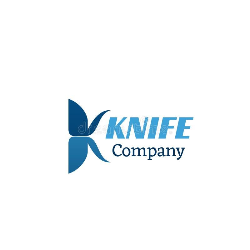 Icono del vector de la compañía del cuchillo libre illustration