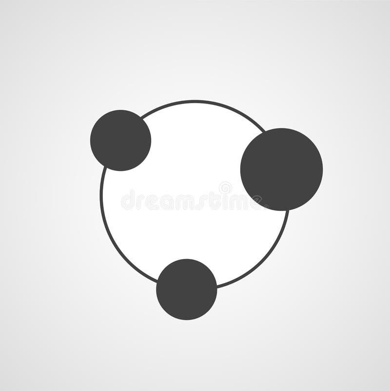 Icono del vector de la conexión o de la reunión libre illustration