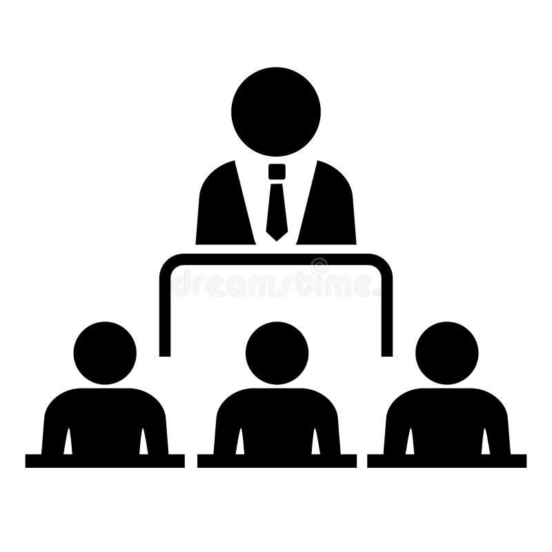 Icono del vector de la conferencia stock de ilustración
