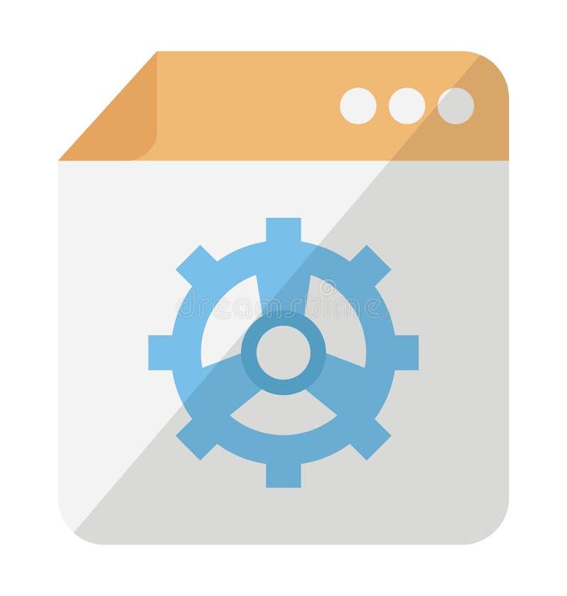 Icono del vector de la configuración de la web que puede modificarse o corregir fácilmente libre illustration