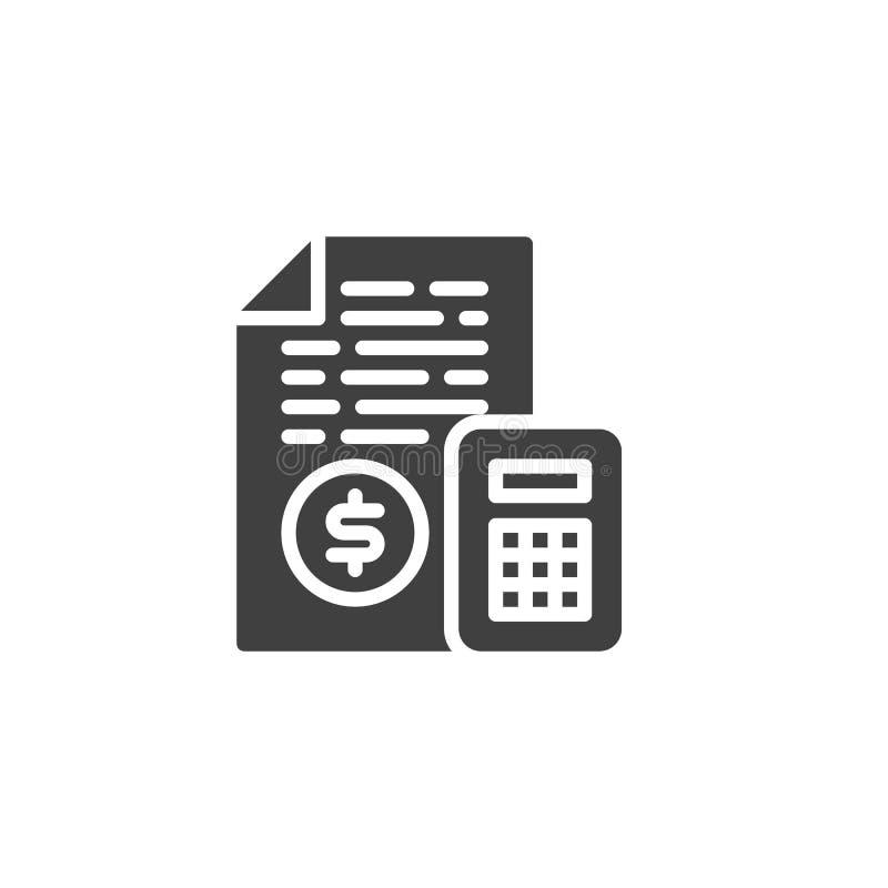 Icono del vector de la contabilidad financiera stock de ilustración