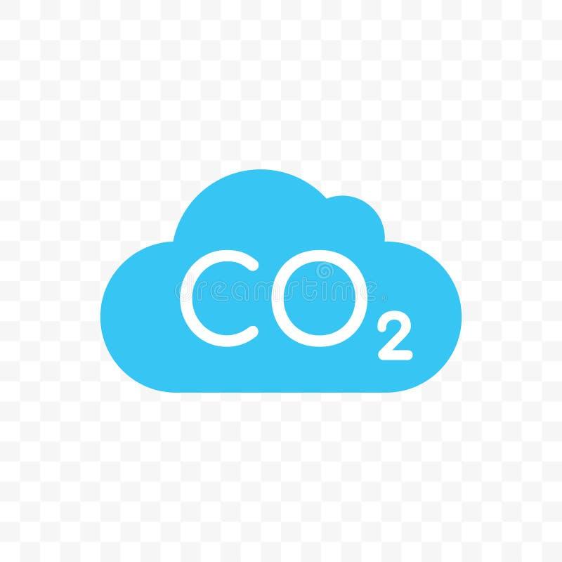 Icono del vector de la contaminación del carbono de la nube del CO2 ilustración del vector