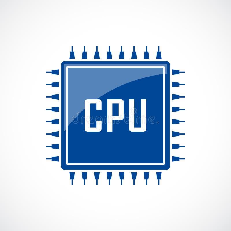 Icono del vector de la CPU del ordenador libre illustration