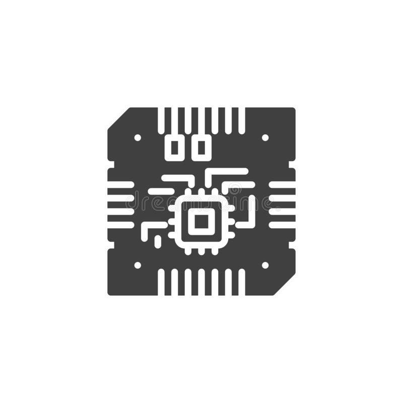 Icono del vector de la CPU de la placa madre libre illustration