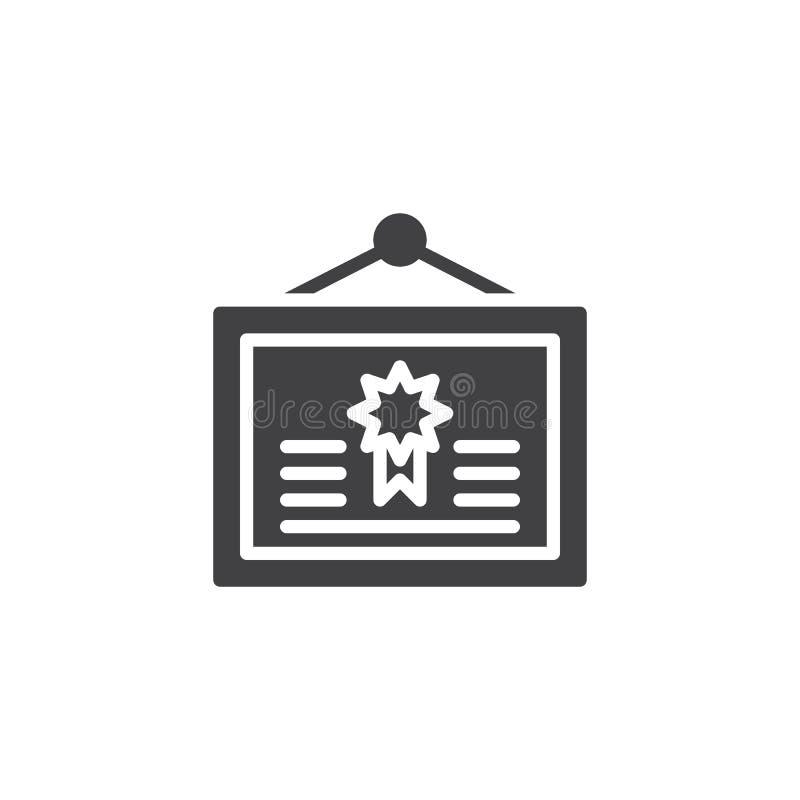 Icono del vector de la ejecución del diploma libre illustration