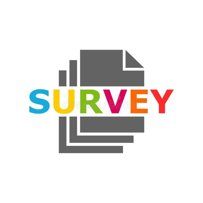 Icono del vector de la encuesta Tablero de la encuesta Documento simple de la encuesta stock de ilustración