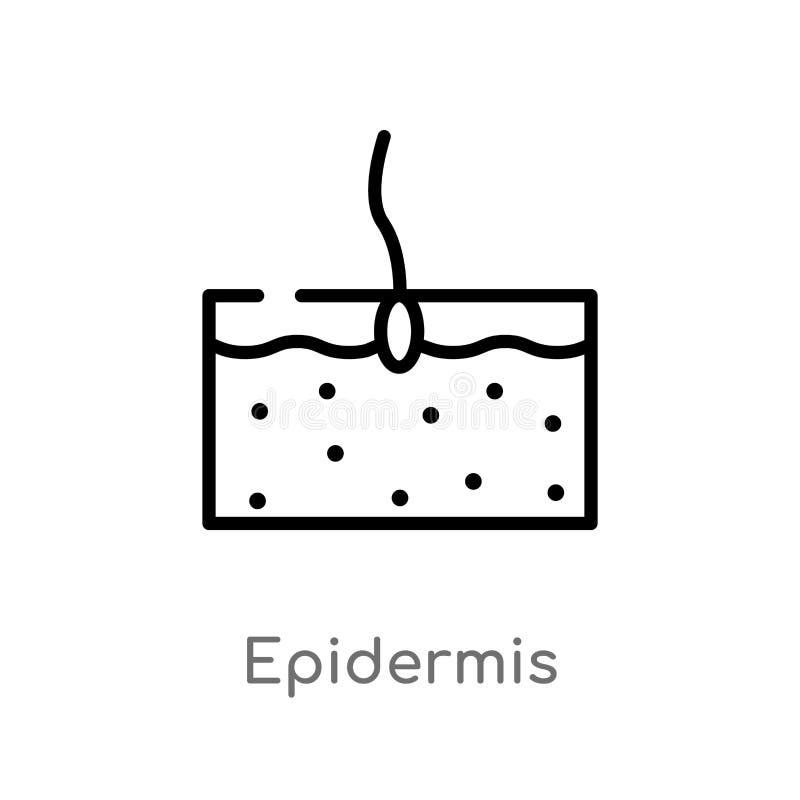 icono del vector de la epidermis del esquema línea simple negra aislada ejemplo del elemento del concepto médico Movimiento Edita libre illustration