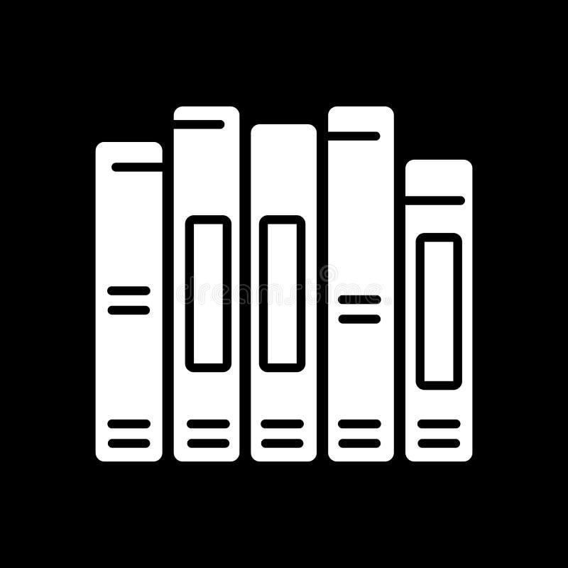 Icono del vector de la espina dorsal del libro Diseño sólido ilustración del vector