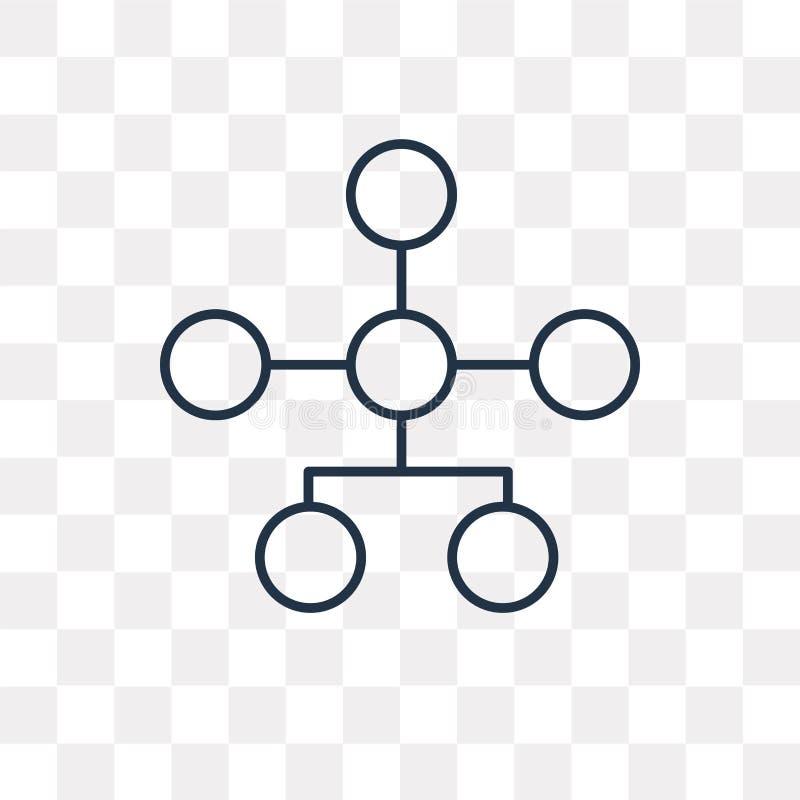 Icono del vector de la estructura jerárquica aislado en backg transparente ilustración del vector