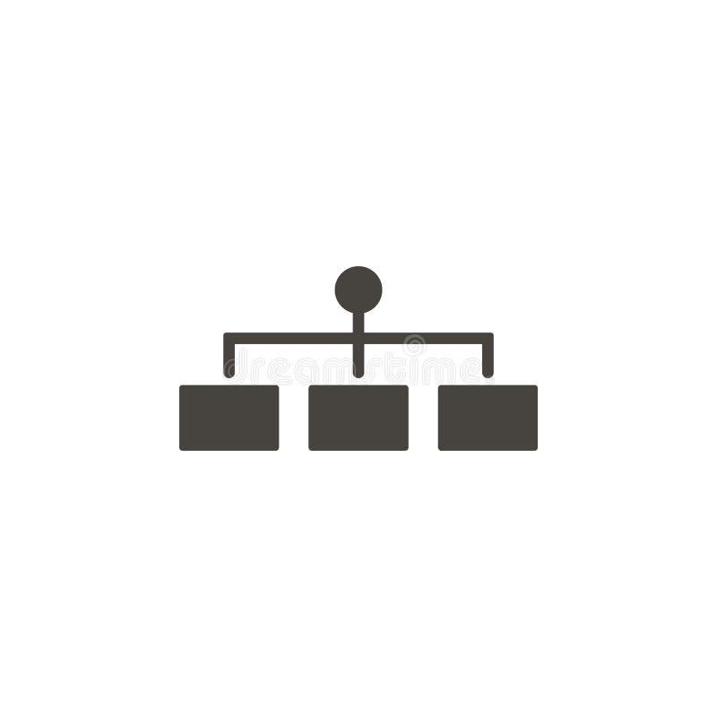 Icono del vector de la estructura Icono simple del vector del illustrationStructure del elemento Ejemplo material del vector del  stock de ilustración