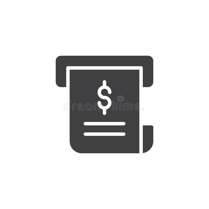 Icono del vector de la factura ilustración del vector