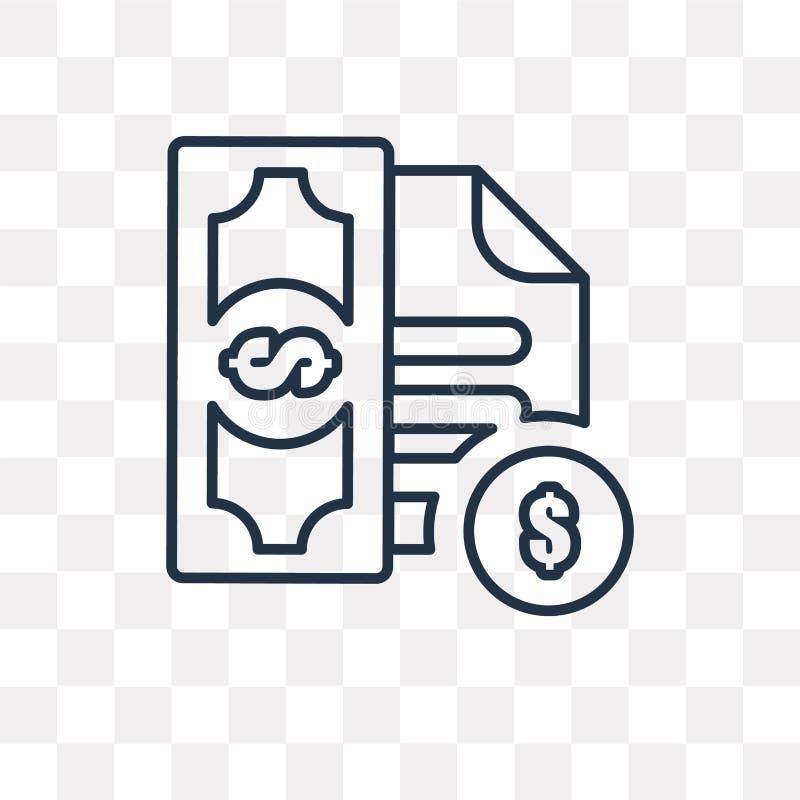 Icono del vector de la factura aislado en el fondo transparente, linear yo libre illustration