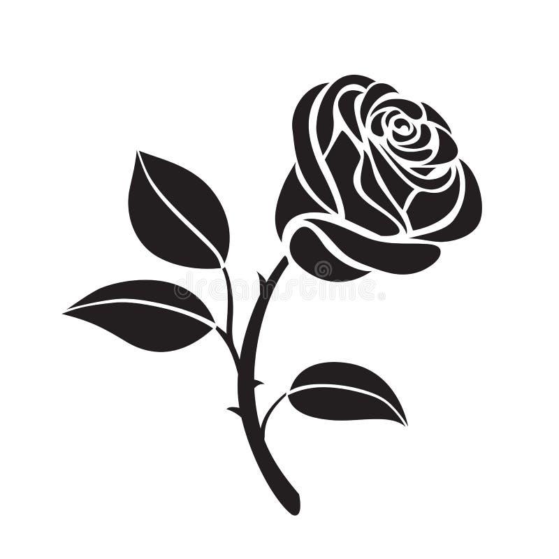 Icono del vector de la flor de Rose stock de ilustración