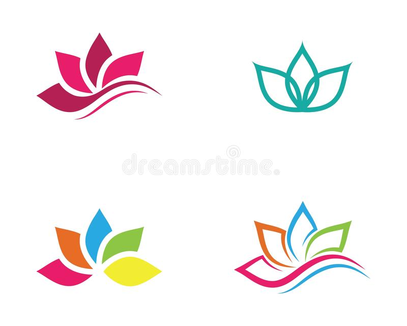 icono del vector de la flor de loto de la belleza libre illustration