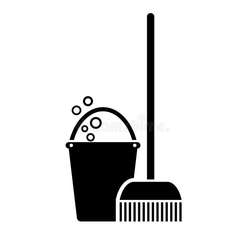Icono del vector de la fregona libre illustration