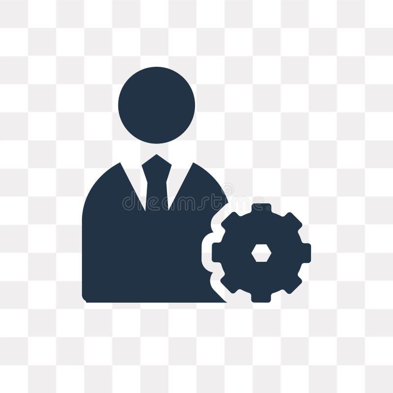 Icono del vector de la gestión aislado en el fondo transparente, Manag libre illustration