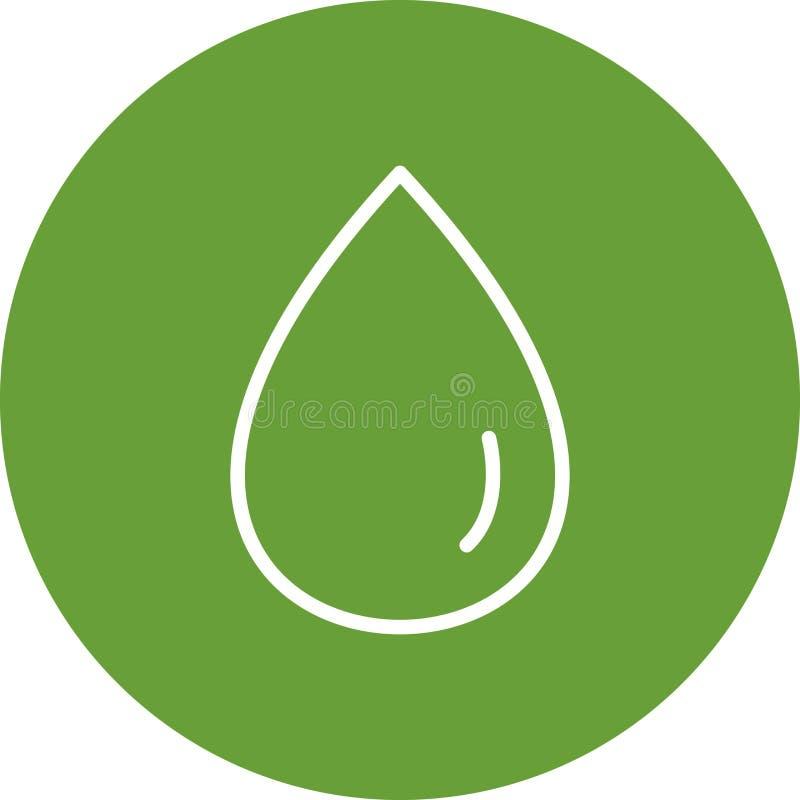 Icono del vector de la gota de lluvia libre illustration