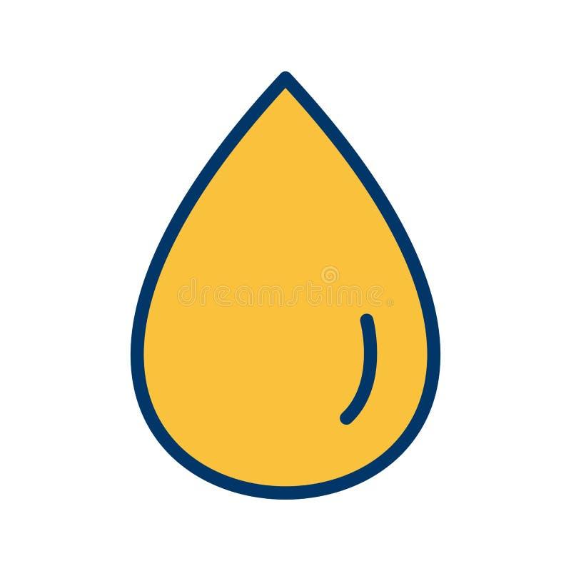 Icono del vector de la gota de lluvia ilustración del vector