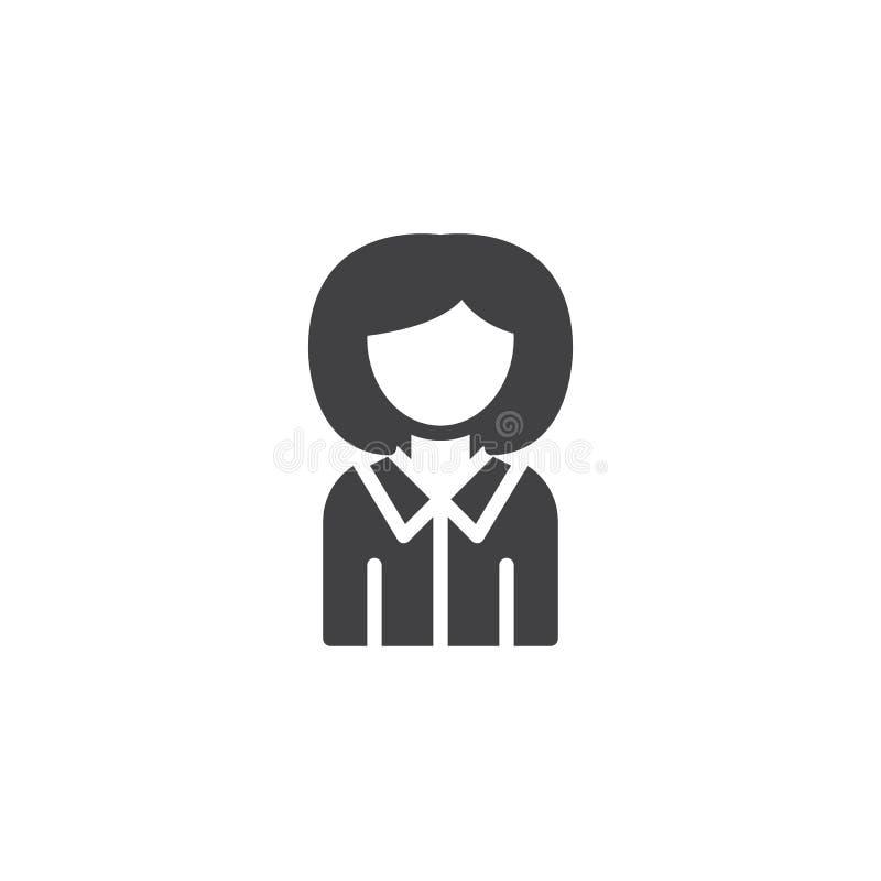 Icono del vector de la guía de la mujer stock de ilustración