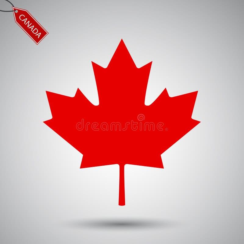 Icono del vector de la hoja de arce Clip art de la hoja de arce del símbolo del vector de Canadá libre illustration
