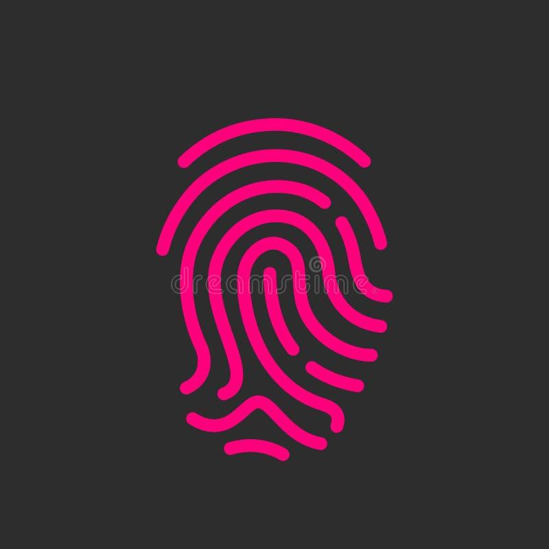 Icono del vector de la huella dactilar ilustración del vector