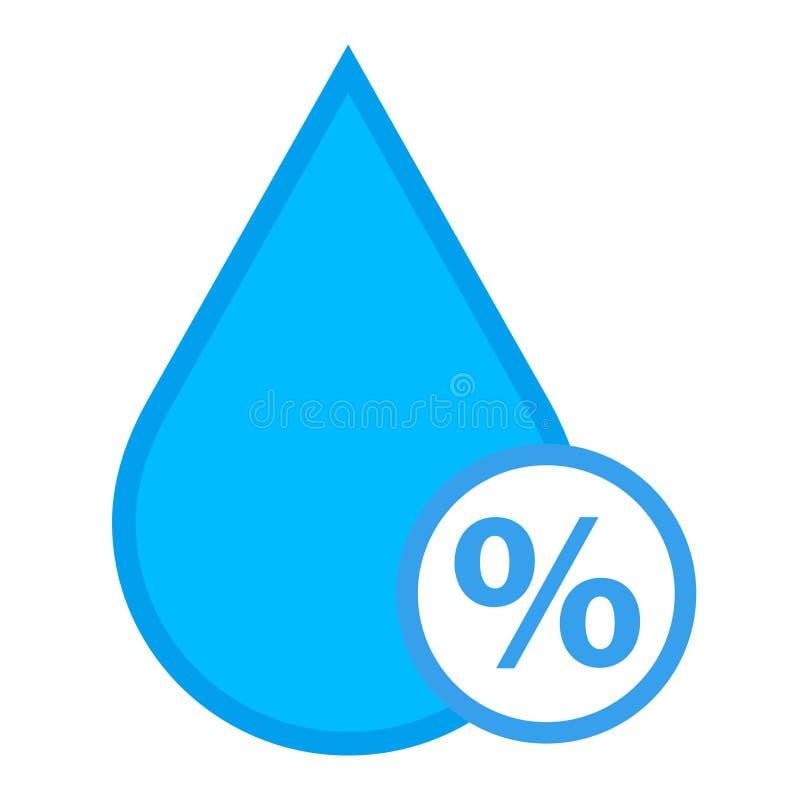 Icono del vector de la humedad ilustración del vector