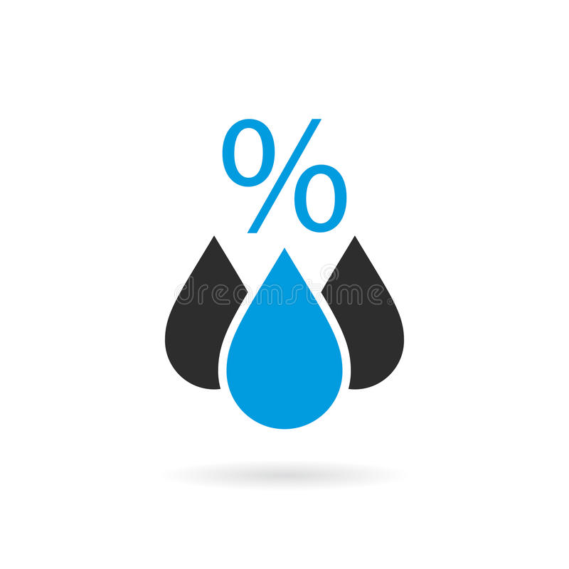 Icono del vector de la humedad libre illustration
