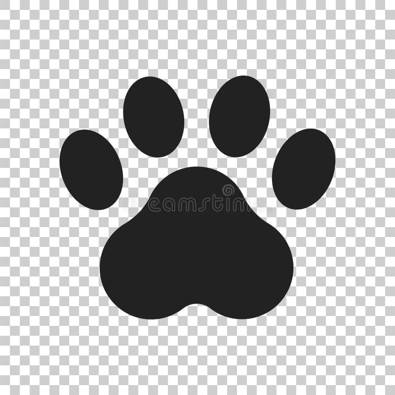 Icono del vector de la impresión de la pata Ejemplo del pawprint del perro o del gato Animal foto de archivo libre de regalías