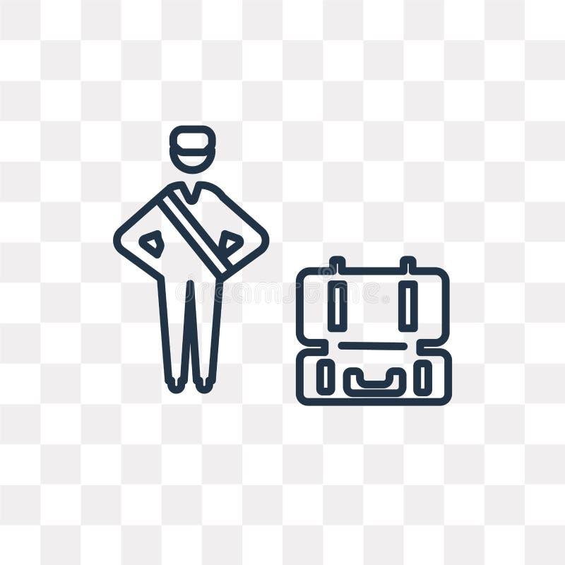 Icono del vector de la inspección del equipaje aislado en backgroun transparente libre illustration