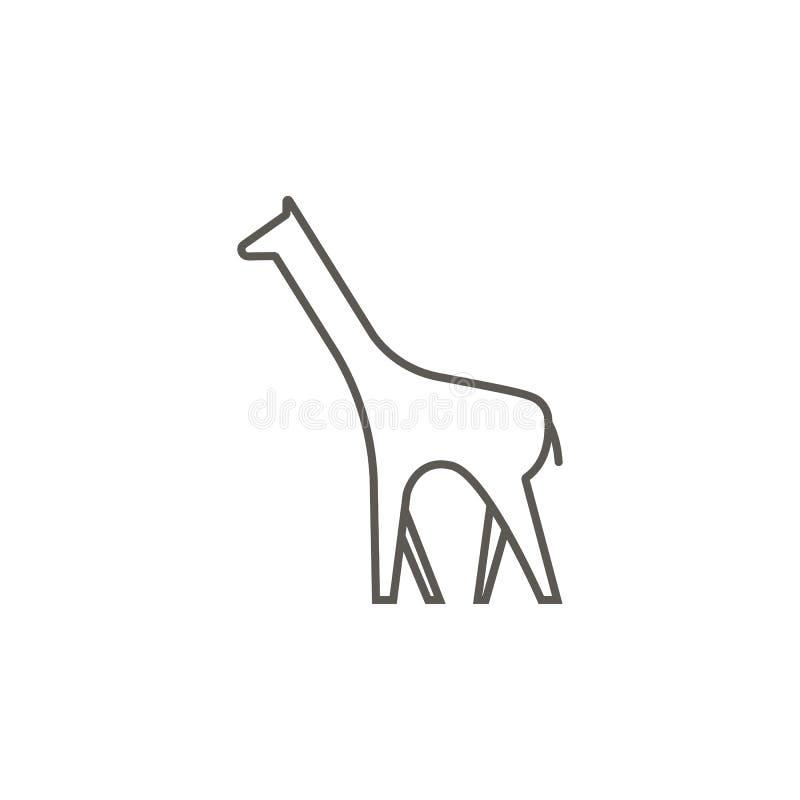 Icono del vector de la jirafa Ejemplo simple del elemento del mapa y del concepto de la navegaci?n Icono del vector de la jirafa  libre illustration