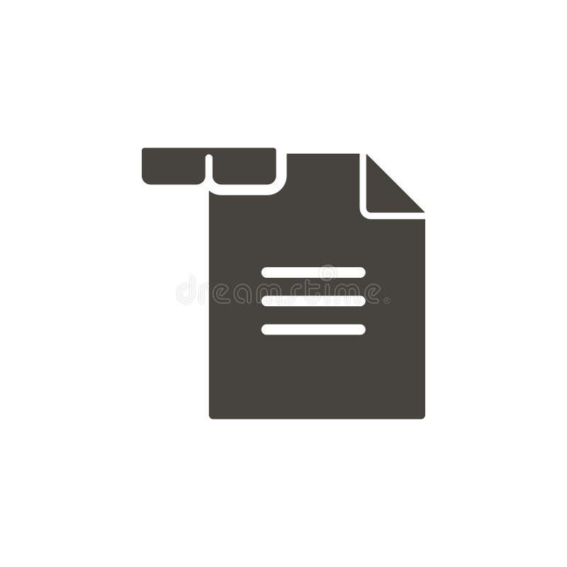 Icono del vector de la lectura Icono illustrationReading del vector del elemento simple Ejemplo material del vector del concepto ilustración del vector